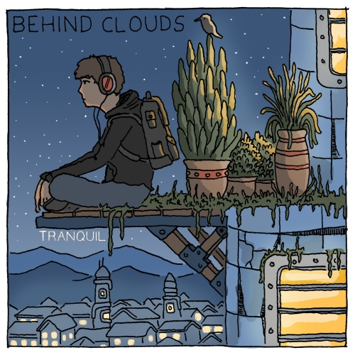 Behind Clouds Tranquil Front Cover